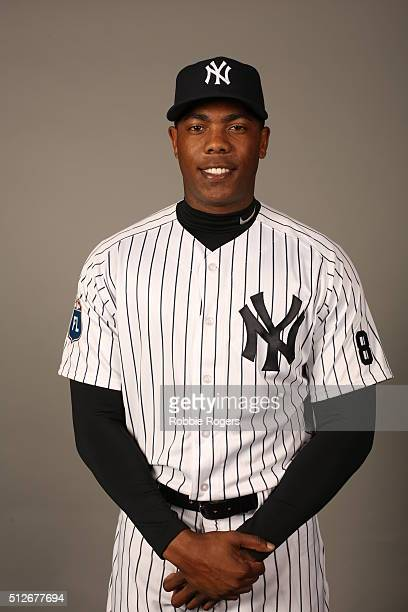 Aroldis Chapman of the New York Yankees poses during Photo Day on Saturday February 27 2016 at George M Steinbrenner Field in Tampa Florida
