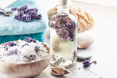 aromatherapy lavender bath salt and massage oil