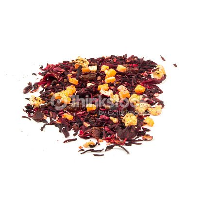 Aromatic Tea Hibiscus Flower Candied Fruit Mix Stock Photo Thinkstock