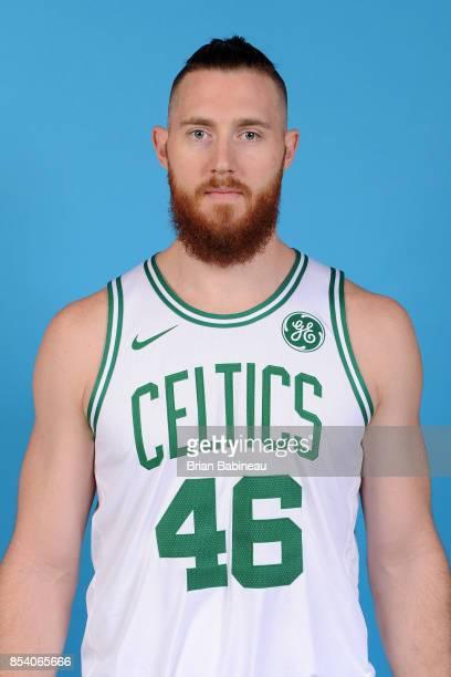 Aron Baynes of the Boston Celtics poses for a head shot during media day at TD Garden in Boston Massachusetts on September 25 2017 NOTE TO USER User...