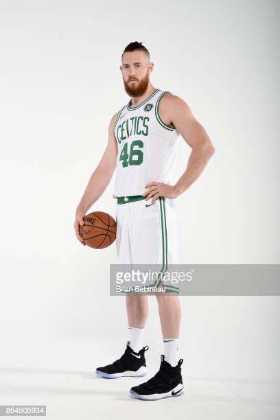 Aron Baynes of the Boston Celtics poses for a portrait during the 201718 NBA Media Day on September 25 2017 at the TD Garden in Boston Massachusetts...