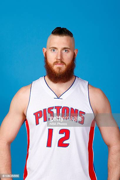 Aron Baynes of the Detroit Pistons poses for a headshot during the 20162017 Detroit Pistons Media Day on September 26 2016 in Auburn Hills Michigan...