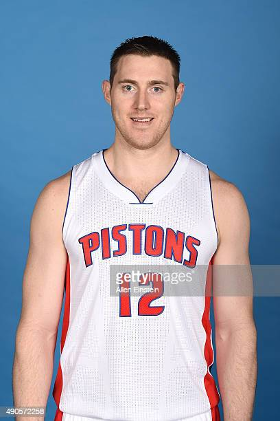 Aron Baynes of the Detroit Pistons poses for a portrait during media day on September 28 2015 at The Palace of Auburn Hills in Auburn Hills Michigan...