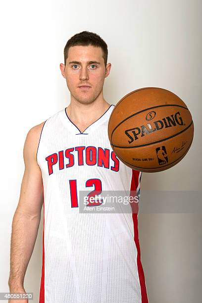 Aron Baynes of the Detroit Pistons poses for a portrait on July 12 2015 at the Palace of Auburn Hills in Auburn Hills Michigan NOTE TO USER User...