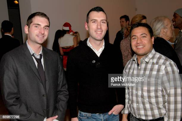 Aron Estaver Ryan Couch and Ken Sanchez attend STENDHAL GALLERY FLUXUS Christmas Party Sponsored By CIPRIANI DOWNTOWN at Stendhal Gallery on December...