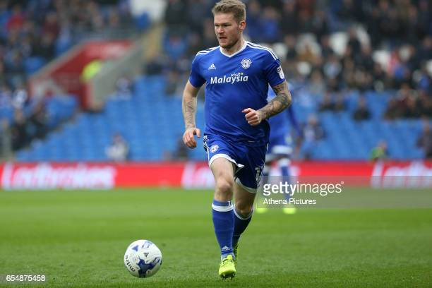 Aron Gunnarsson of Cardiff City during the Sky Bet Championship match between Cardiff City and Ipswich Town at The Cardiff City Stadium on March 18...