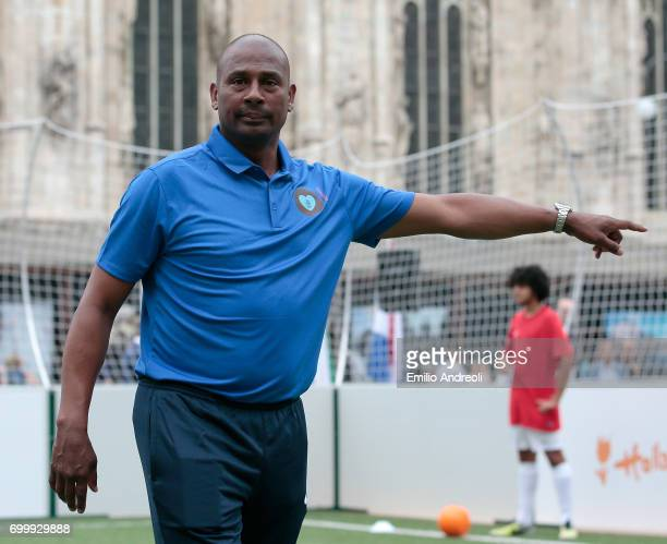 Aron Winter attends a football clinic for integration organized by Italian Football Federation on June 22 2017 in Milan Italy