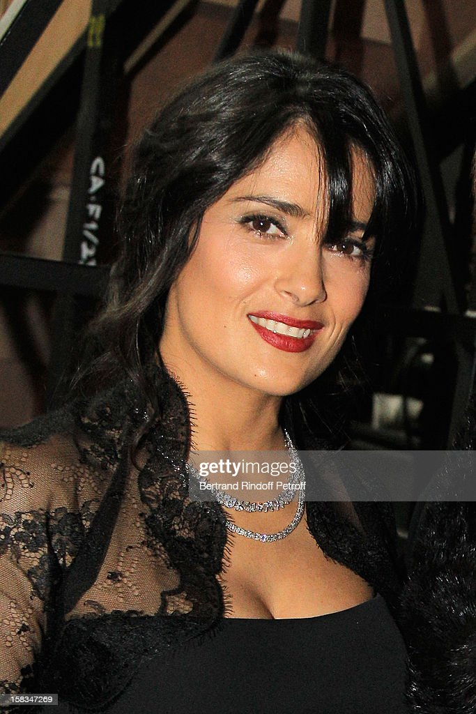 Arop Gala Event President actress <a gi-track='captionPersonalityLinkClicked' href=/galleries/search?phrase=Salma+Hayek&family=editorial&specificpeople=201844 ng-click='$event.stopPropagation()'>Salma Hayek</a> attends the Arop Gala event for Carmen new production launch at Opera Bastille on December 13, 2012 in Paris, France.