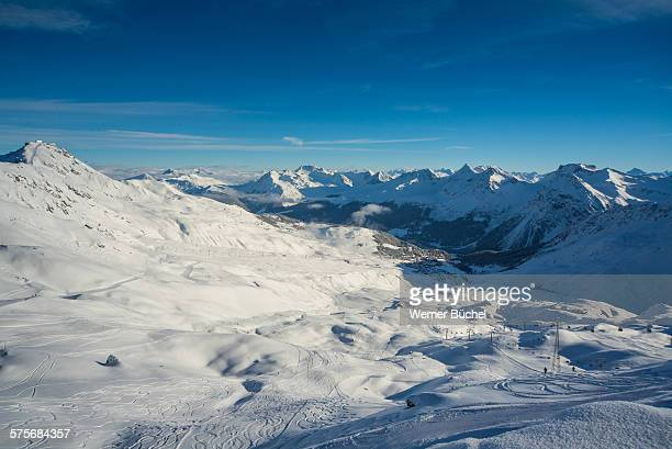 Arosa Winter Landscape - Snow covered mountains