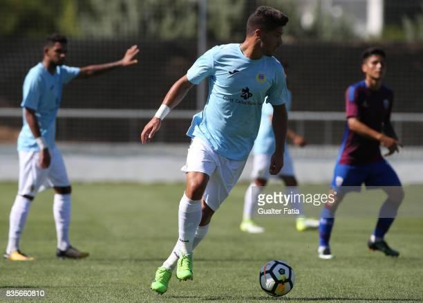 Arouca defender Hugo Basto from Portugal in action during the Segunda Liga match between CD Cova da Piedade and FC Arouca at Estadio Municipal Jose...
