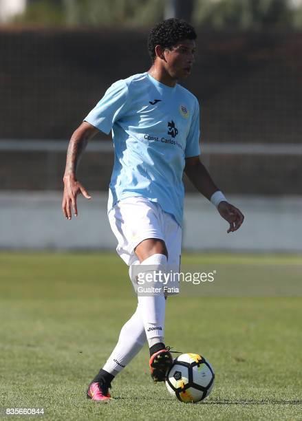 Arouca defender Jefre Vargas from Venezuela in action during the Segunda Liga match between CD Cova da Piedade and FC Arouca at Estadio Municipal...