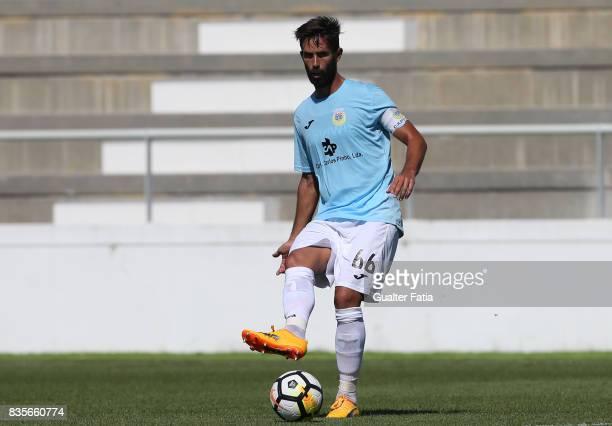 Arouca defender Nuno Coelho from Portugal in action during the Segunda Liga match between CD Cova da Piedade and FC Arouca at Estadio Municipal Jose...