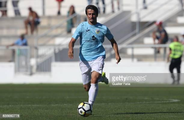 Arouca midfielder Aleks Palocevic from Serbia in action during the Segunda Liga match between CD Cova da Piedade and FC Arouca at Estadio Municipal...
