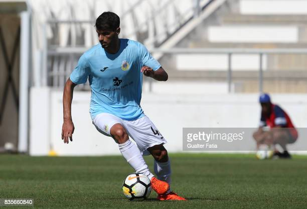 Arouca midfielder Bruno Alves from Portugal in action during the Segunda Liga match between CD Cova da Piedade and FC Arouca at Estadio Municipal...