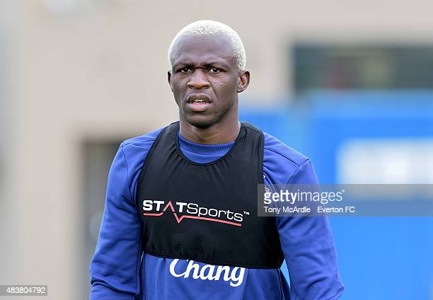 Arouna Kone during the Everton training session at Finch Farm on August 13 2015 in Halewood England