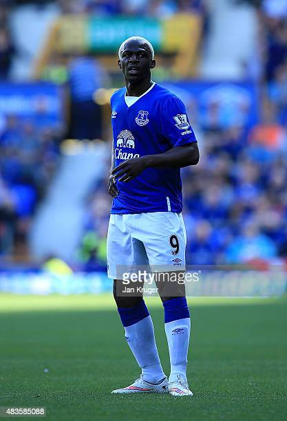 Arouna Kone of Everton during the Barclays Premier League match between Everton and Watford at Goodison Park on August 8 2015 in Liverpool England
