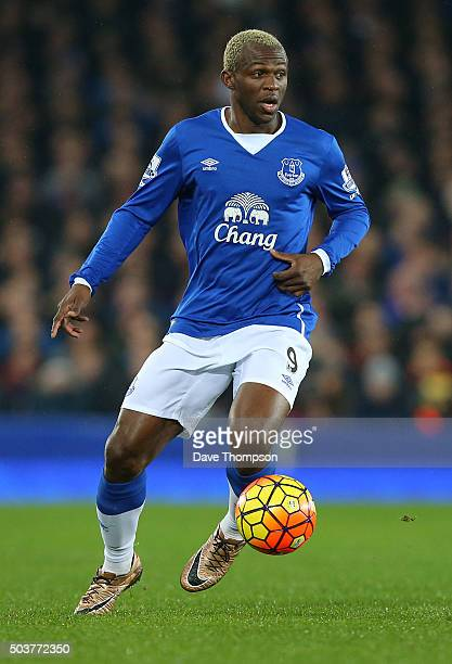 Arouna Kone of Everton during the Barclays Premier League match between Everton and Tottenham Hotspur at Goodison Park on January 3 2016 in Liverpool...