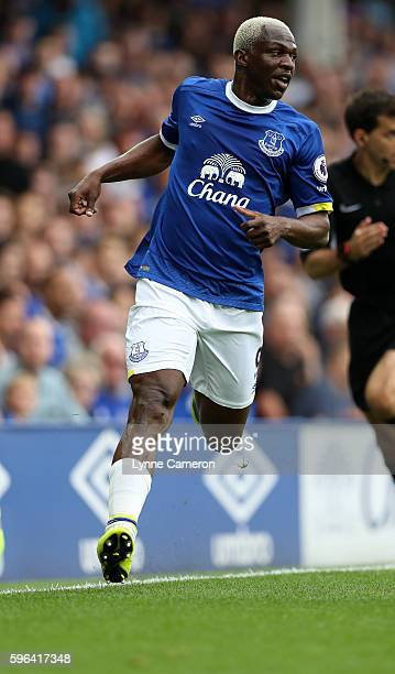 Arouna Kone of Everton during the Premier League match between Everton and Stoke City at Goodison Park on August 27 2016 in Liverpool England