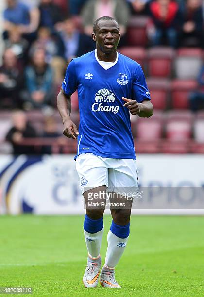 Arouna Kone of Everton in action during a pre season friendly match between Heart of Midlothian and Everton FC at Tynecastle Stadium on July 26 2015...