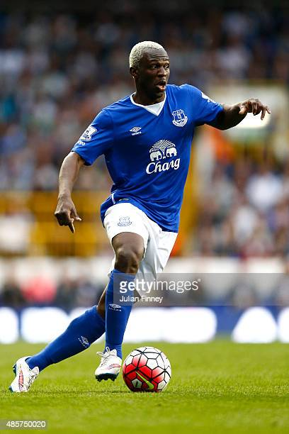 Arouna Kone of Everton in action during the Barclays Premier League match between Tottenham Hotspur and Everton at White Hart Lane on August 29 2015...