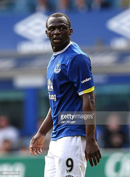 Arouna Kone of Everton in action during the preseason friendly match between Everton and Espanyol at Goodison Park on August 6 2016 in Liverpool...
