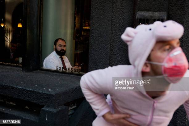 Around 40 activists dressed as animals invaded the PR firm Bell Pottinger April 10 in central London United Kingdom The activists want to ecxpose the...