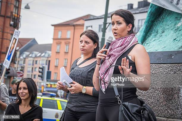 Around 500 people gathered at M��llev��ngstorget Sweden on Sunday afternoon 31th August 2015 to boost the Swedish government when it comes Hassan...