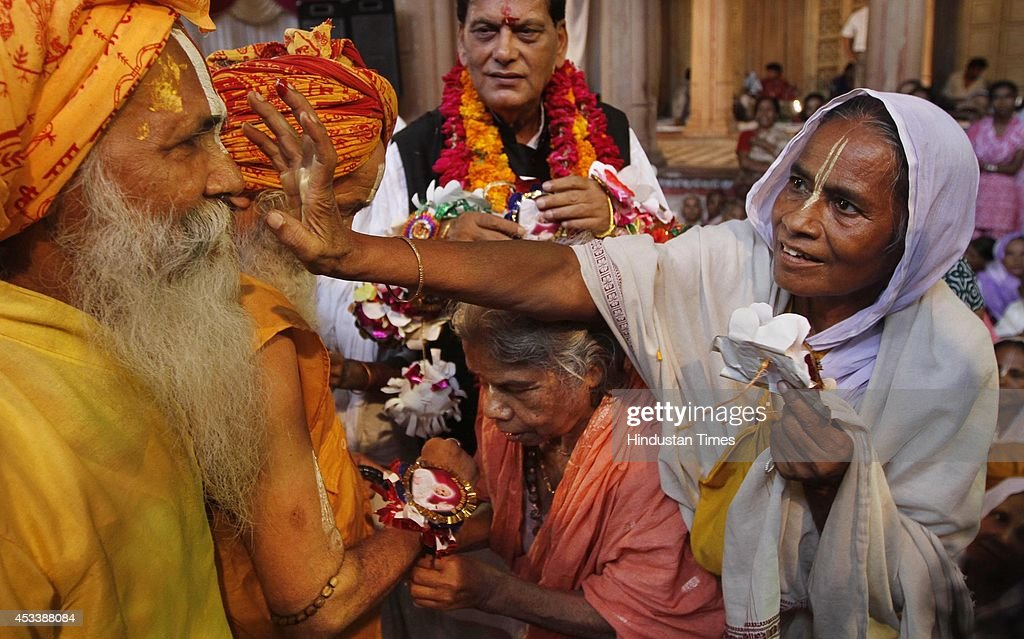 Around a thousand of old aged widows gather to celebrate rakhi raksha