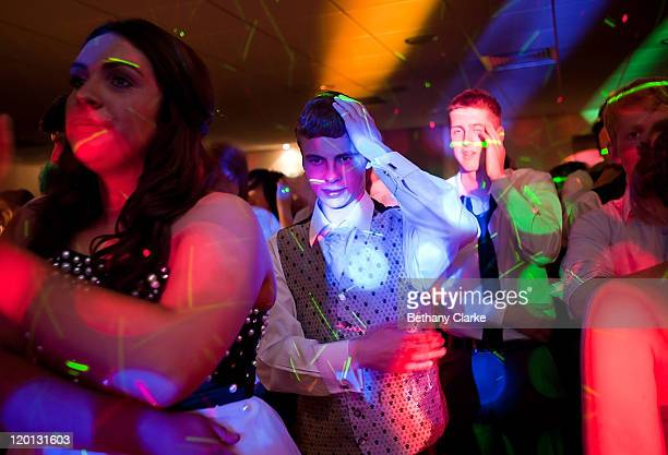 Arran Tweedy dances to the song 'Saturday Night' on the dance floor at the school prom on July 1 2011 in Newcastle United Kingdom After months of...