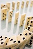 Arrangement Of Domino Pieces Collapsing