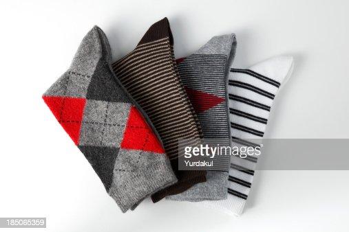 arrangement of folded socks