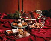 Arrangement of holiday desserts