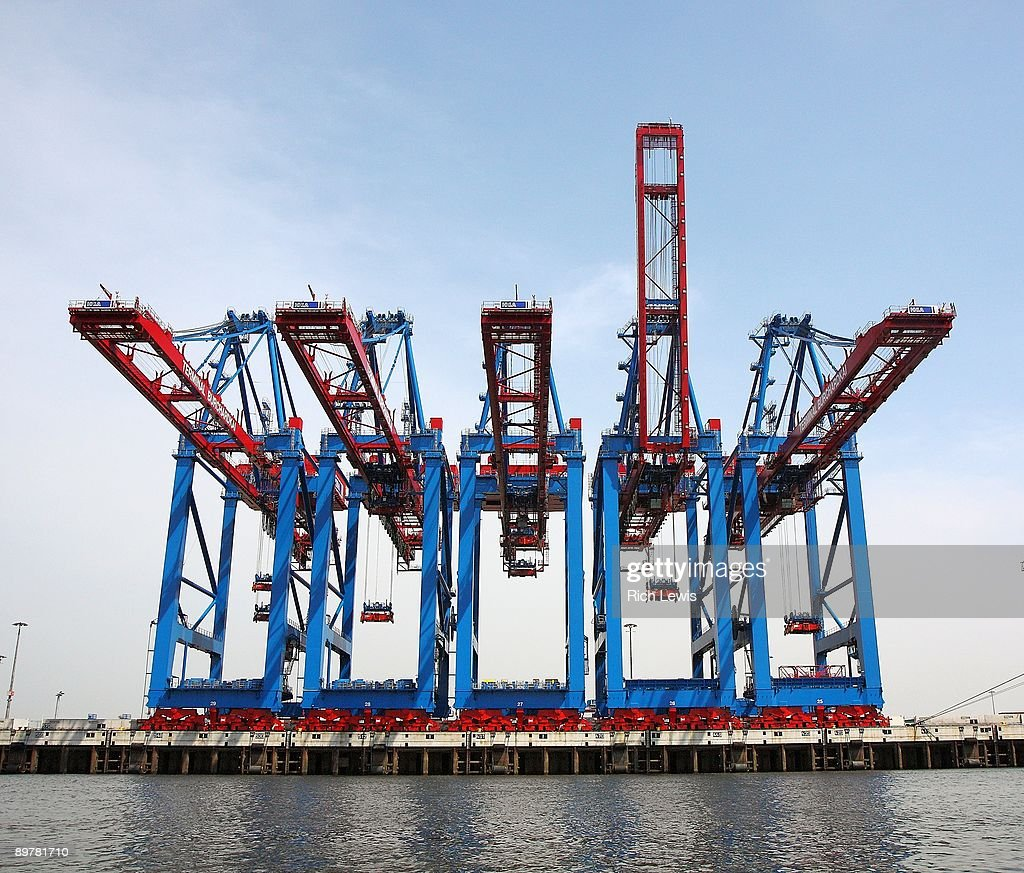 Array of Cranes at Freight Terminal
