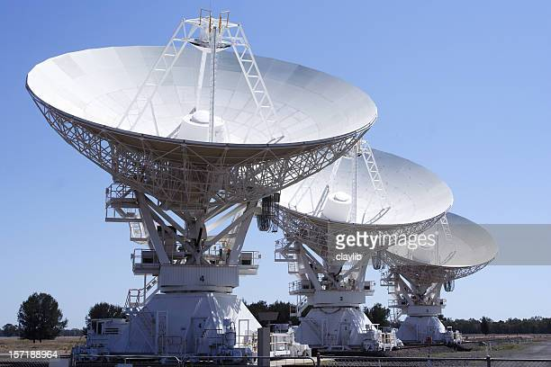 array of deep space radio frequency telescopes