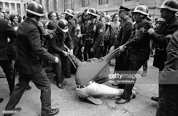 NYPD arrest AntiNuclear Power protesters who demonstrate in front of the New York Stock Exchange New York New York October 9 1979