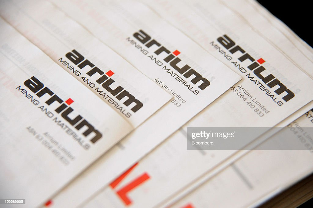 Arrium Ltd. information brochures are arranged for a photograph at the company's annual general meeting in Melbourne, Australia, on Monday, Nov. 19, 2012. Arrium, which rebuffed a A$1.2 billion ($1.24 billion) takeover offer from a Noble Group Ltd. and Posco-led consortium last month, said Geoff Plummer will step down as chief executive officer by the end of next year. Photographer: Carla Gottgens/Bloomberg via Getty Images