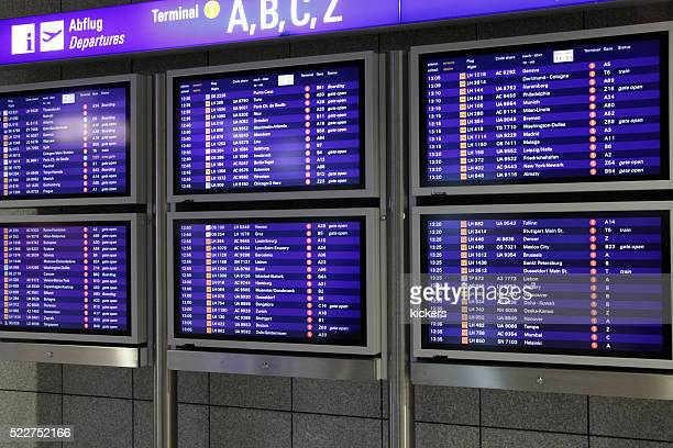Arrival and Departure plans on computer screens