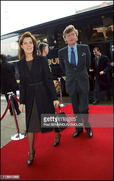 Arrival for Lunch concert 'Concertgebouw' in Amsterdam In Amsterdam Netherlands On February 01 2002Princess Caroline of Monaco with Ernst August de...