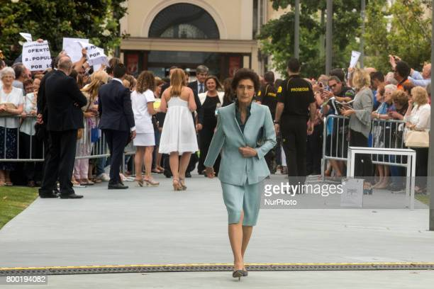 Arrival of Paloma O'shea widow of the president of the Bank of Santander Emilio Botin to the new Botin Center of the arts and culture that is...