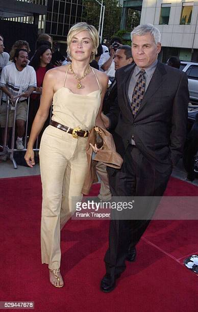 Arrival of Sharon Stone with Ed Limato