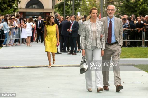 Arrival of the architect Renzo Piano and his wife to the new Botin Center of the arts and culture that is inaugurated today And whose design and...