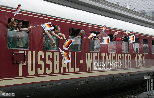 Arrival of the so called 'Triumphzug' during the FIFA World Cup 2006 Hamburg Mannheimer Kaisertour on July 22 2005 in Nuremberg Germany At the...