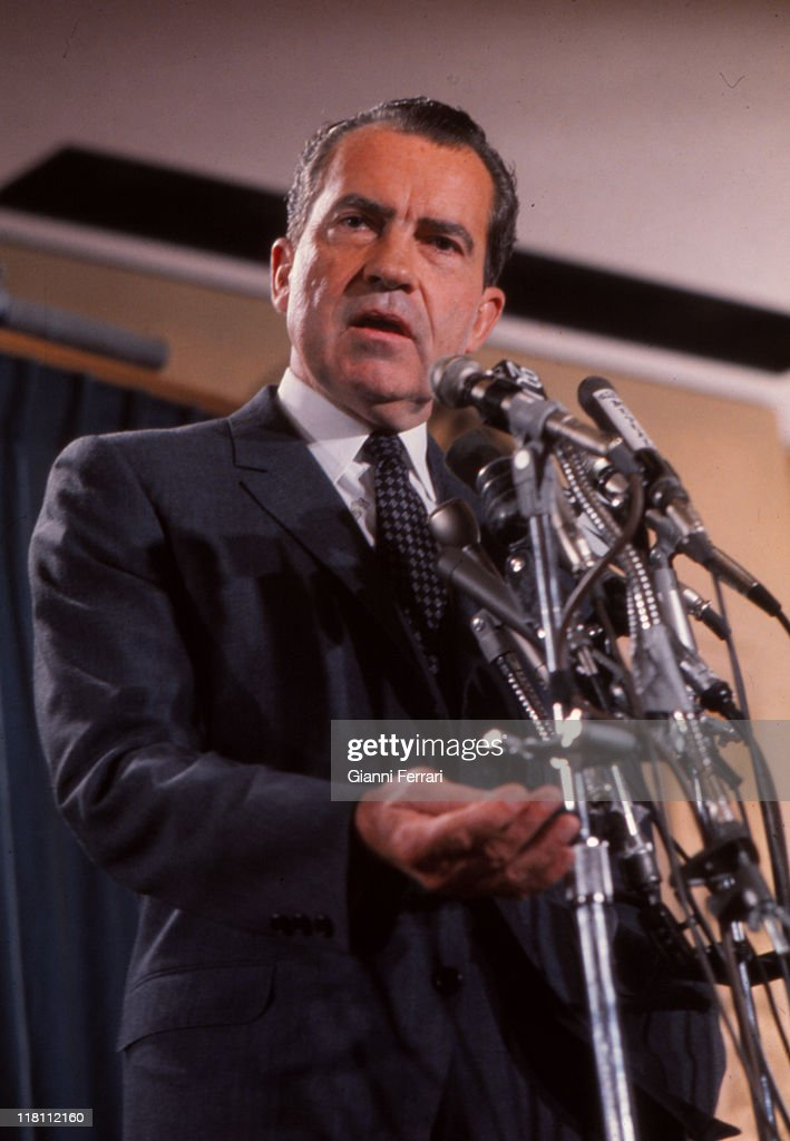 Arrival of US President Richard Nixon to Spain for an official visit Madrid Spain