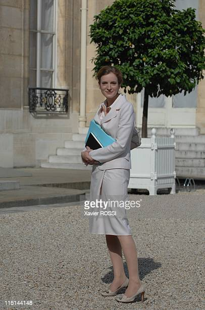 Arrivals at the first ministers' cabinet meeting after a government reshuffle following legislative elections at the Elysee Palace in Paris France on...