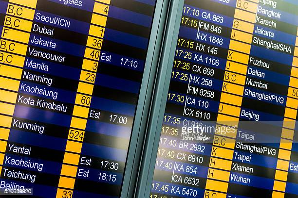 Arrivals Board, Hong Kong International Airport, Hong Kong