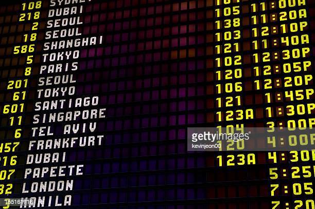 Arrivals departure board