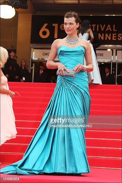 Arrivals of Palme d'Or closing ceremony at the Cannes film festival 2008 In Cannes France On May 25 2008 Milla Jovovich
