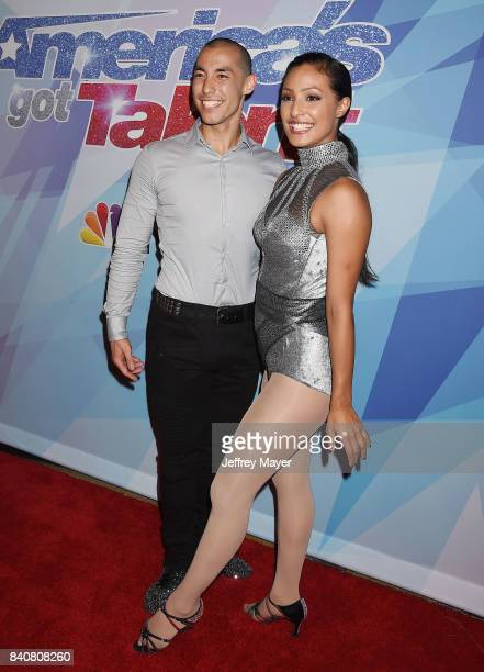 EMILY arrive at the NBC's 'America's Got Talent' Season 12 Live Show at Dolby Theatre on August 29 2017 in Hollywood California