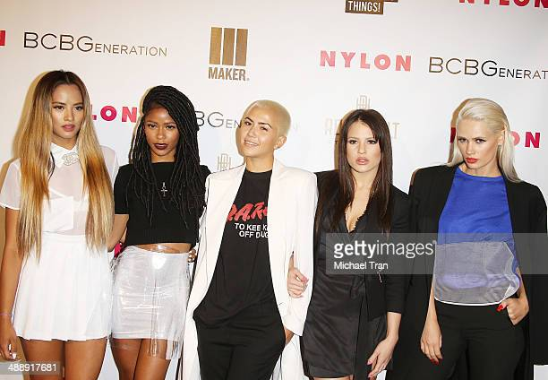 L arrive at the Nylon Magazine May Young Hollywood Issue Party held at Tropicana Bar at The Hollywood Rooselvelt Hotel on May 8 2014 in Hollywood...