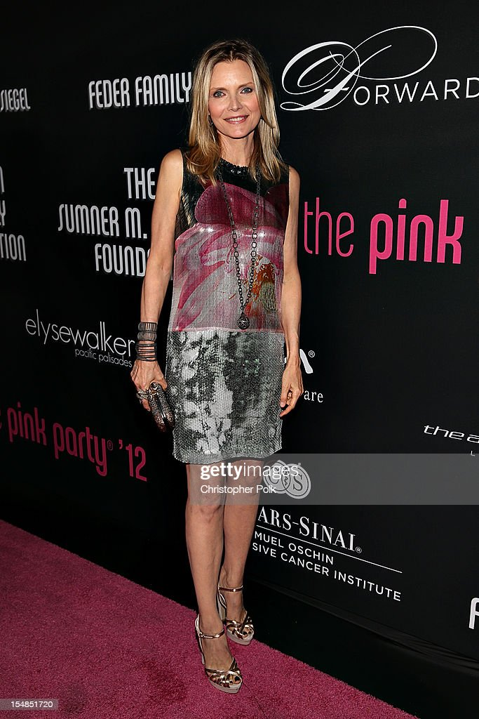 arrives at Elyse Walker presents the 8th annual Pink Party hosted by <a gi-track='captionPersonalityLinkClicked' href=/galleries/search?phrase=Michelle+Pfeiffer&family=editorial&specificpeople=212951 ng-click='$event.stopPropagation()'>Michelle Pfeiffer</a> to benefit Cedars-Sinai Women's Cancer Program held at